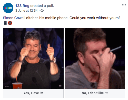 123reg Facebook poll